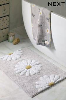 שטיח אמבטיה בהדפס פרחים