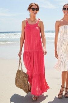 Платье макси с люрексом Lurex®