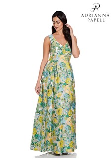 Adrianna Papell Sleeveless Jacquard Gown