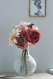 Kunstblumen-Arrangement in Vase