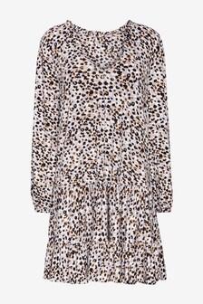 Long Sleeve Ruffle Tiered Dress