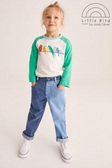 Little Bird Unisex Denim Patchwork Jeans