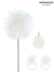 Monsoon Tinsel Pom Pencil, Charm And Hair Set