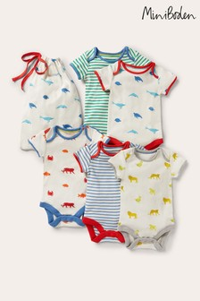 Boden Natural Animal Print Bodies 5 Pack