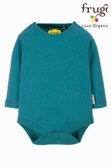 Frugi Blue GOTS Organic Long Sleeve Bodysuit
