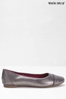 White Stuff Grey Beatrix Ballerina Shoes