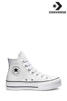 נעלי ספורט גבוהות מעור עם פלטפורמה דגםLift Chuck Taylor שלConverse
