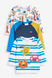 T-Shirts mit Figuren, Dreierpack (0Monate bis 2Jahre)