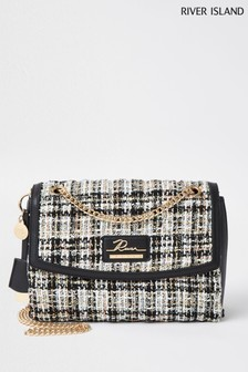 River Island Black Quilted Shoulder Bag