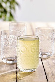 Set of 4 Owl Tumbler Glasses