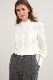 Pleat Front Shirt