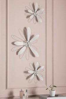 Set Of 3 Floral Plaques (986505)   $65