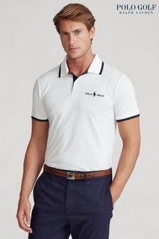 חולצת פולו לבנה שלPolo Golf byRalph Lauren עם לוגו