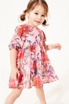 Хлопковое платье каскадного кроя (3 мес.-7 лет)