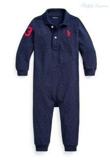 ثوب مناسب لنمو الأطفال أزرق داكن بشعار منRalph Lauren