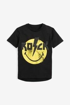 Rock T-Shirt mit Smiley (3-16yrs)