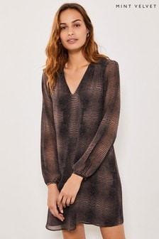 Mint Velvet Crocodile Print Midi Dress