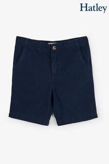 Темно-синие шорты из твила Hatley