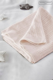 The White Company Pink Cellular Satin Blanket