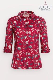 חולצה של Seasalt Cornwall דגם Torn Medley Fireglow Larissa באדום