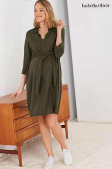 Isabella Oliver Green Aiden Maternity Dress