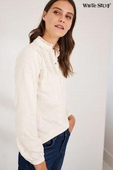White Stuff Jossy Jersey-Hemd, Natur