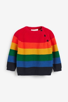 Rainbow Stripe Knitted Jumper (0mths-2yrs)