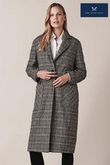 Crew Clothing Brown Wool Coat