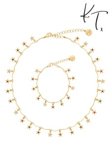 Rainbow Necklace And Bracelet Set