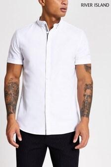 חולצת אוקספורד שלRiver Island בצבע בהיר