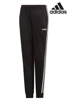 Черные спортивные брюки с тремя полосками adidas