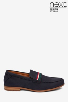 Faux Suede Tape Loafers