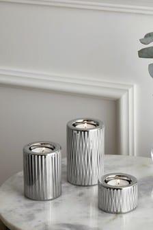 Set Of 3 Ceramic Tealight Holders (989612)   $17