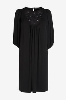 Broderie Detail Dress