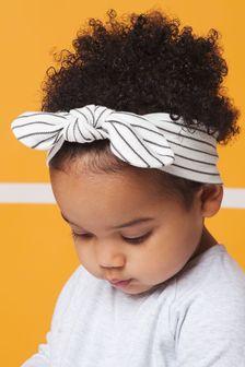 MORI White Baby Bow Headband
