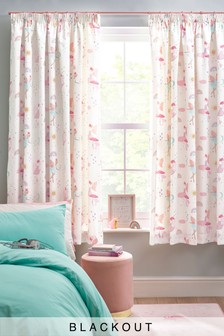Fairies & Princesses Pencil Pleat Blackout Curtains