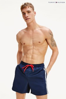 Tommy Hilfiger Blue Logoline Medium Drawstring Trunks