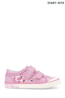 נעליים מקנס עם פרחים נוצצים לבנות של Start-Rite דגם Flower בוורוד
