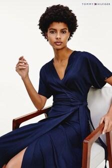 Tommy Hilfiger Blue Alana Wrap Dress