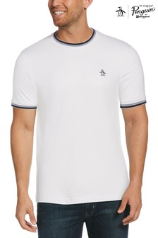 Original Penguin® White Logo Ringer T-Shirt