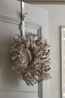 Silver Stag Wreath Holder