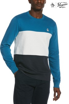 Original Penguin® Blue Colourblock Sweatshirt