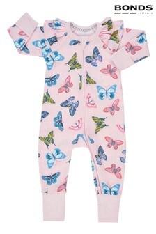 חליפה לתינוק עם רוכסן של Bonds בצבע ורוד