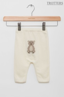 Trotters London Off White Teddy Leggings
