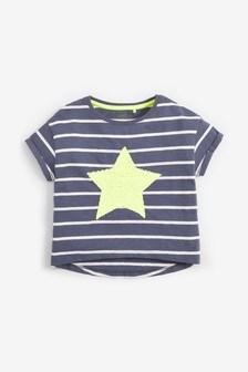 Tričko s jasnofarebou flitrovou aplikáciou hviezdy (3 – 16 rok.)