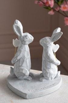 Rabbit Couple Ornament