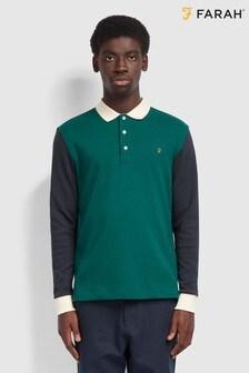 قميص Hearsall Rugby أخضر من Farah