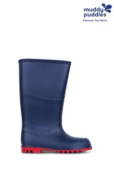 Muddy Puddles Navy Classic Wellington Boots
