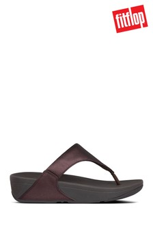 FitFlop™ Brown Lulu Leather Toe Post Sandals