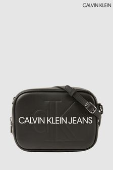 Calvin Klein Black Sculpted Monogram Camera Bag
